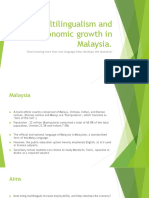 Multilingualism and economic growth in Malaysia..pptx