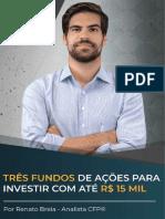 Três Fundos de Ações para Investir com até R$15 Mil