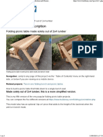 00 Folding Picnic Table DIY Out of 2x4 Lumber