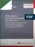Honorarios de los Profesionales del Derecho -Libro.pdf