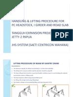 Lifting Shipping Handling Procedure