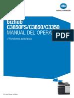 manual operacion bizhub c 3850