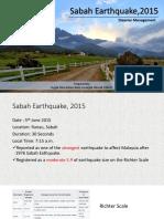 Sabah Earthquake 2015-Presentation Slide