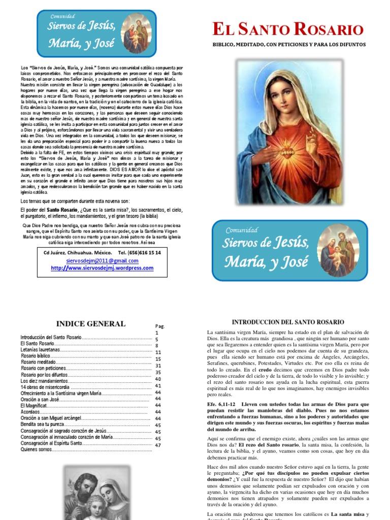 El Santo Rosario Libro Pdf María Madre De Jesús Orador Del Señor