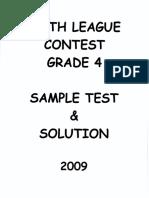 Math League Grade 4 2009