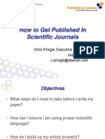 Chris Pringle - How to get published in Scientific Journals (2010)