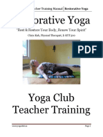 Yoga Club Teacher Training Manual Restorative Yoga