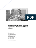 Cisco Unified IP Phone Services Application Development Notes