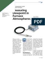 VN151 Measuring Dewpoint in Furnace Atmospheres