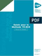 Saisie Pour La Methode TH-BCE - Manuel de l'Utilisateur