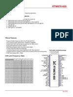 Regulador de Freq RTM876-660_REALTEK