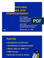 IPMI Overview,Progress and Implementation