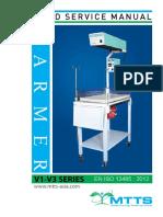 MTTS V1-V3 Infant Warmer. 001  User and Service Manual
