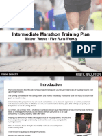 Improvers Marathon Program - 16 Weeks - Plus Strength Workouts