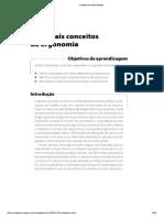 Revisão Principais Conceitos ERGONOMIA -