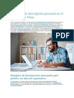 Ejemplos de descripción personal en el Curriculum Vitae.docx