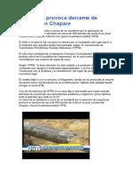 Accidente provoca derrame de petróleo en Chapare.docx