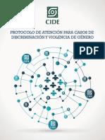 CIDE Protocolo violencia de género