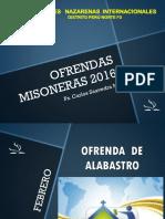 OFRENDAS MISONERAS 2016