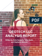 deotechllcanalysisreport mkt232 part1 fall2018