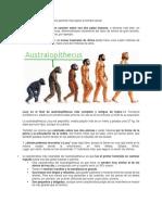 Evolucion de Los Astrolopitecus