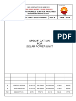 Cmit 712 Ele 15.03 5002_b_specification for Solar Power Unit