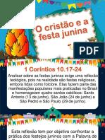 3. O Cristão e a Festa Junina