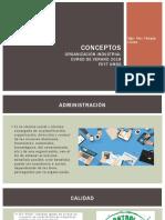 Conceptos Organizacion Industrial FCYT UMSS