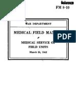 FM8-10 Medical Field Manual Medical Service of Field Units