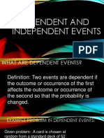 Dependent and Independent Events, Math 2016