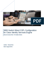 3850 Switch Wired C3PL Configuration for Cisco Identity Services Engine