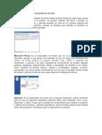 Los diferentes tipos de procesadores de texto.docx