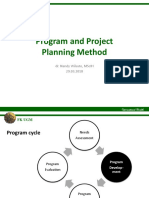 Program and Project Planning Method 2018