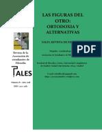 El Otro plural como a priori ético transformador (Tales Revista de Filosofía, mayo 2018)