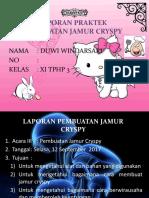 Jamur Cryspy Duwi Windarsari