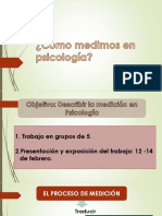 Medición en Psicología 07 Febrero
