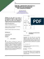 Informe Laboratorio Transistores Polarizado en Divisor de Voltaje