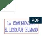 La comunicación. El lenguaje humano