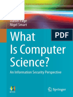What is Computer Science an Information Security Perspective