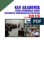 Buku Pedoman Akademik Prodi Pendidikan Kimia-2015-New