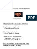 Subject - Verb Agreement