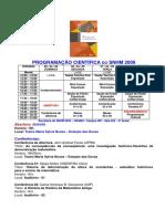 programação snhm 2009