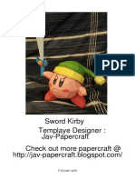 Sword Kirby Lined