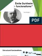 Durkheim y el funcionalismo