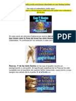 Las 7 Fiestas de Israel.
