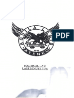 Aquila Tips- Political Law