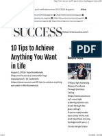 10 Tips to Achieve Anything You Want in Life