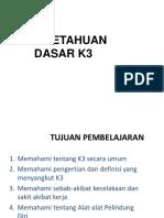 03. Pengetahuan Dasar K3