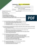 AP + TELANGANA REGION-CLASS 7-Post Test Questionnaire