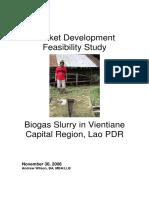 Biogas Slurry in Laos